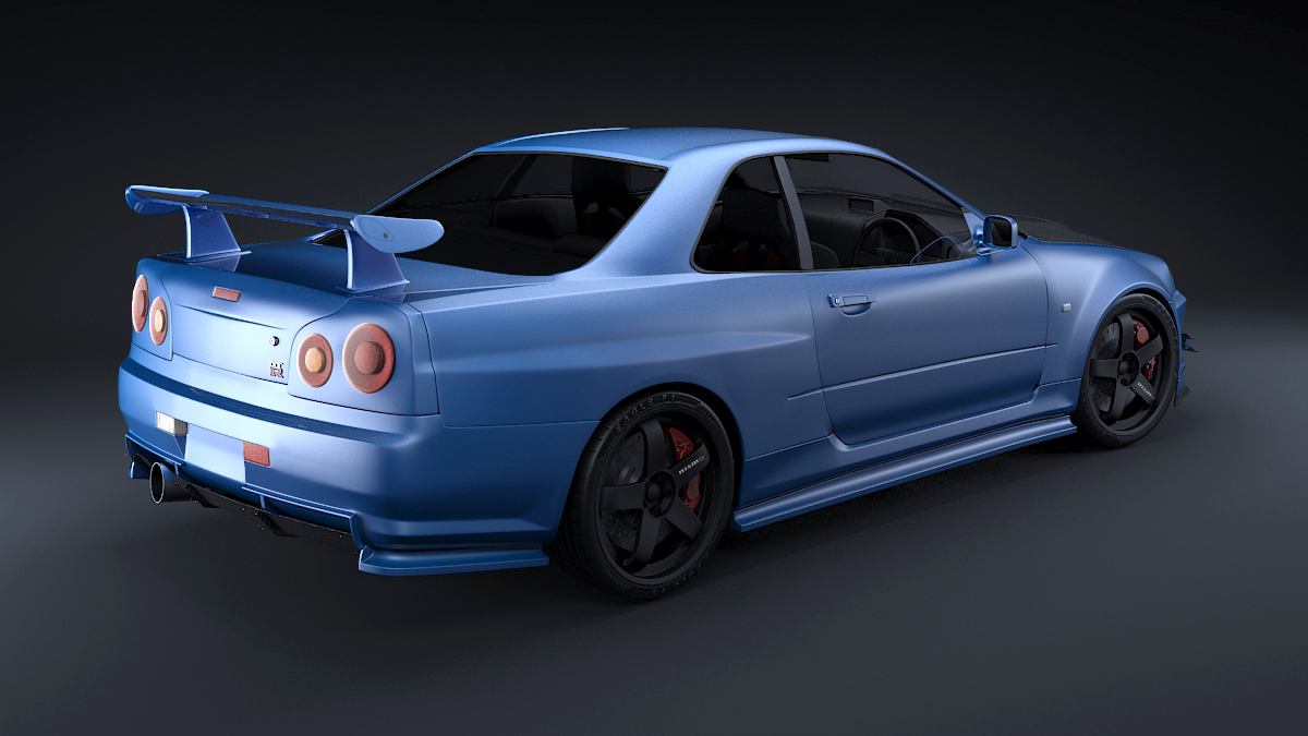 Nissan Skyline R34 Gt R Solid Post Production